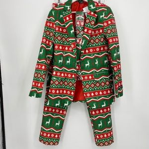 NEW 3 pc CHRISTMAS Suit S 34-36 Reindeer